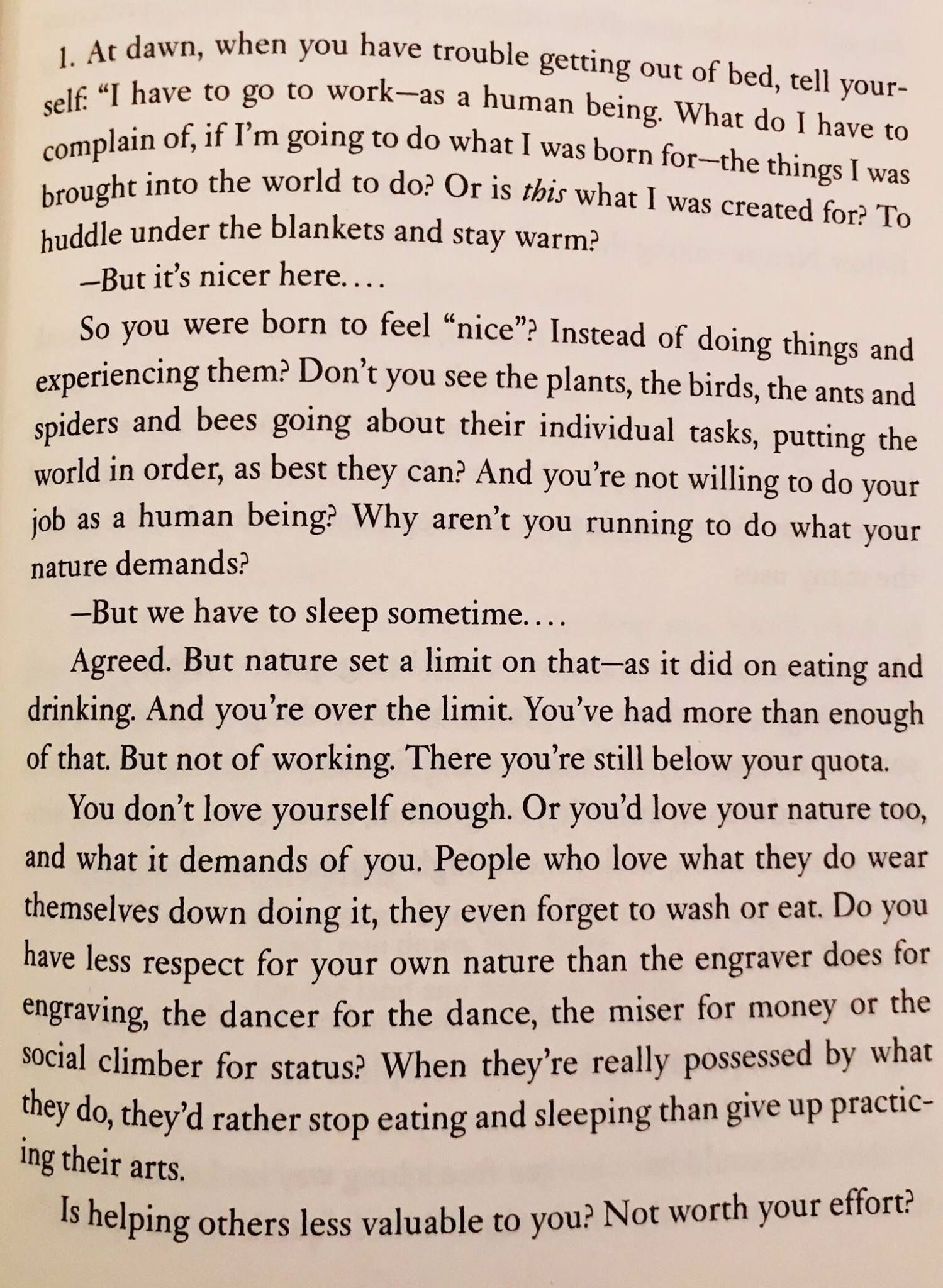 Get Out Of Bed By The Roman Emperor Marcus Aurelius Yes