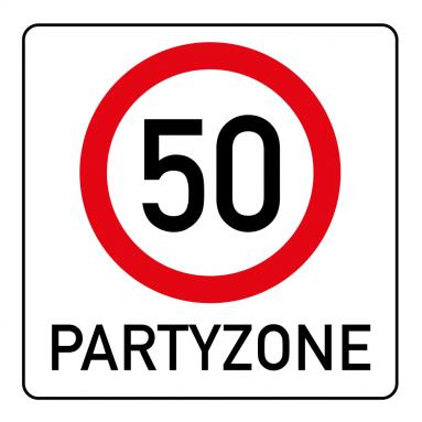 Witzige Einladungskarte Zum 50 Geburtstag Mit Verkehrsschild