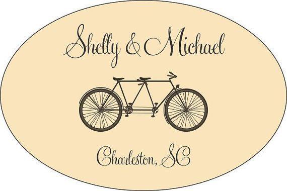 Personalisierte Hochzeit Sticker  100 3 x 2 ovale von LabelsRus, $29.95