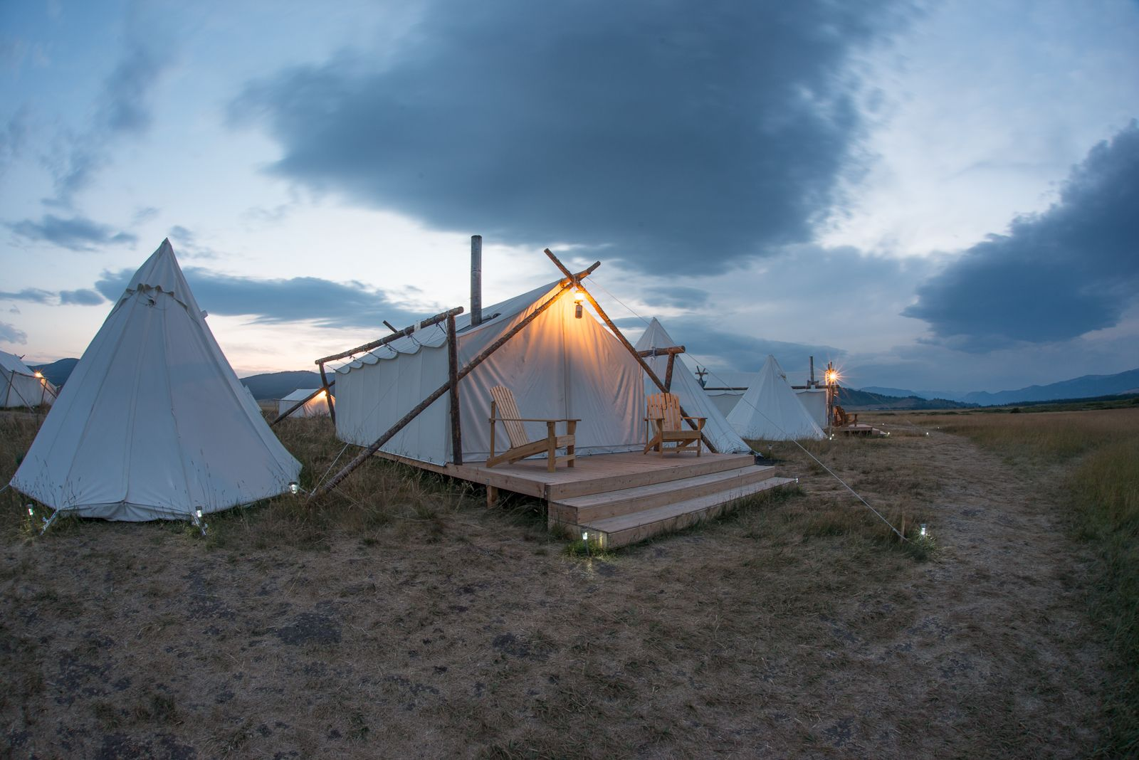 Yellowstone Under Canvas luxury camp. What would you create under canvas in California?  canvasevent.com