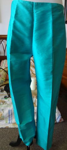 """These silk pants are perfect for a spring or summer time day. They are great to were to dressy event, and they zip up the left side. They are a fantastic and fun addition to every wardrobe! The measurements for these pants are:  Length: 37"""" Waist: 15 1/4"""" $19"""