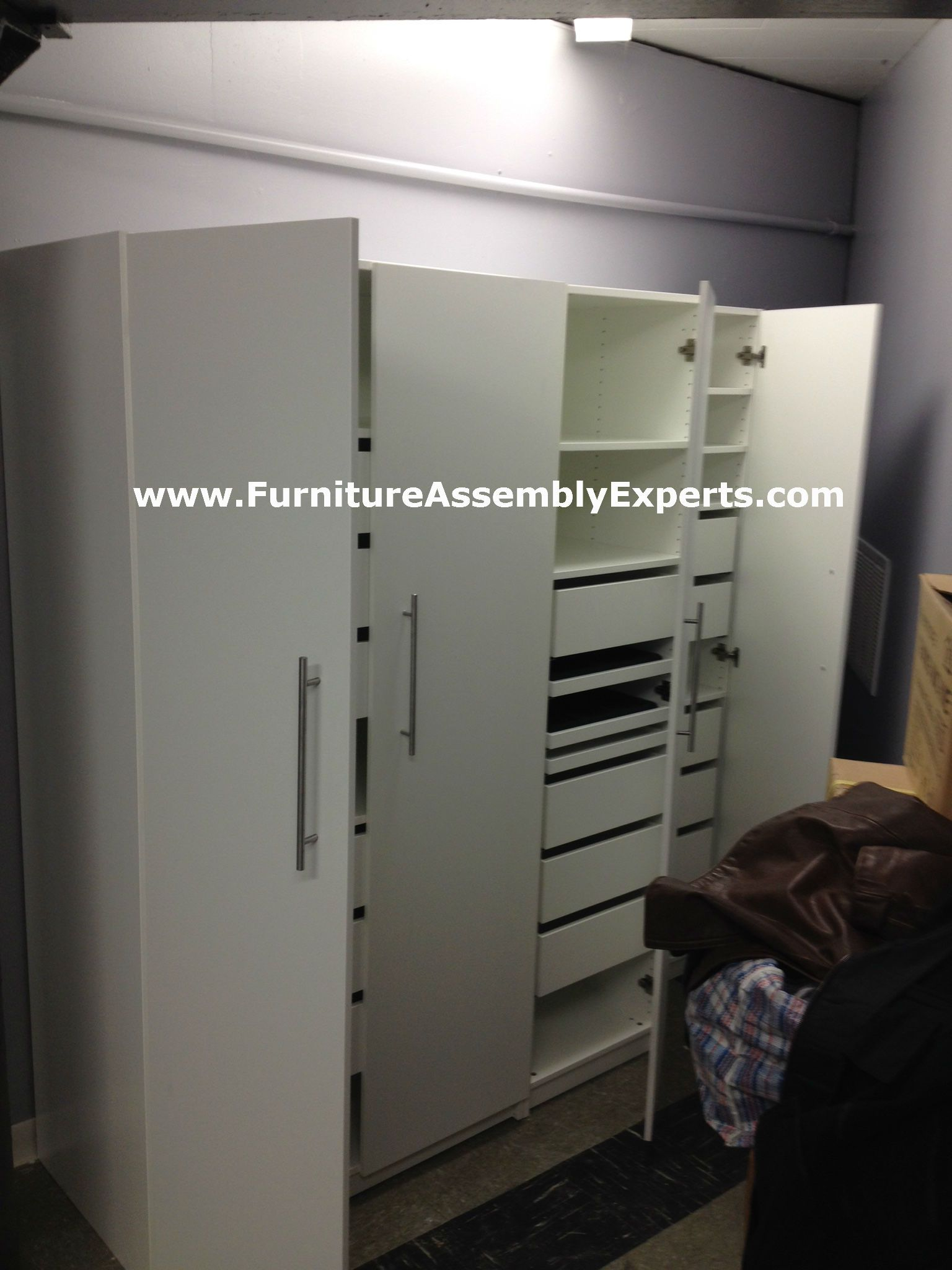 Ikea Pax Wardrobe With Regular Doors And Drawers Embled In Owing Mills Md By Furniture Embly Experts Llc