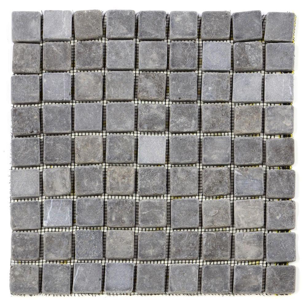 Divero Marmor Naturstein Mosaik 11 Matten Fliesen Wand Boden Quadratisch Grau In Heimwerker Bodenbelage Flie Stein Mosaik Fliesen Mosaikfliesen Fliesen Wand