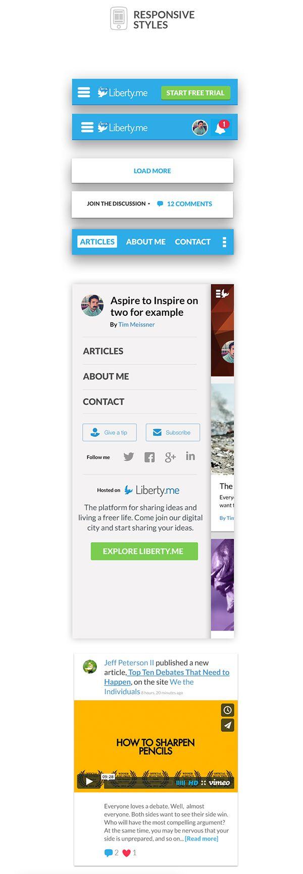 Liberty.me - UI UX Web Design