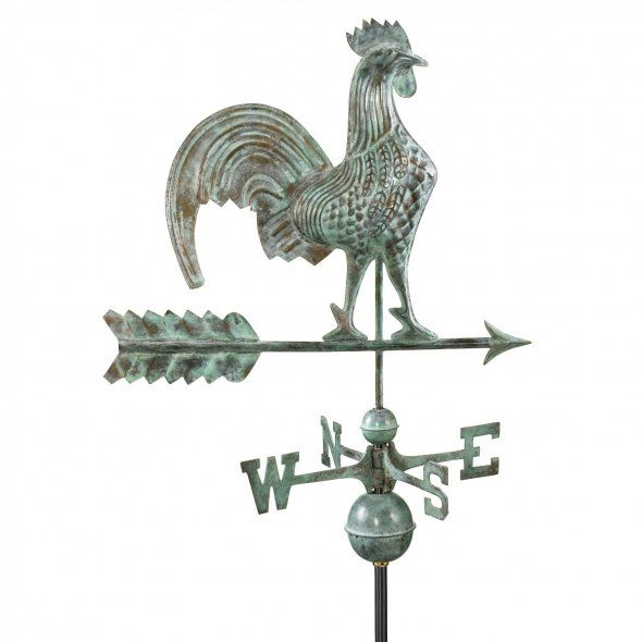 Vintage Weather Vane: Good Directions Rooster Weathervane