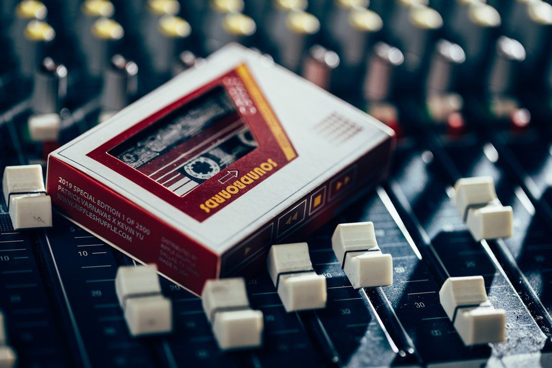 Cardistry soundboard red edition playing cards by