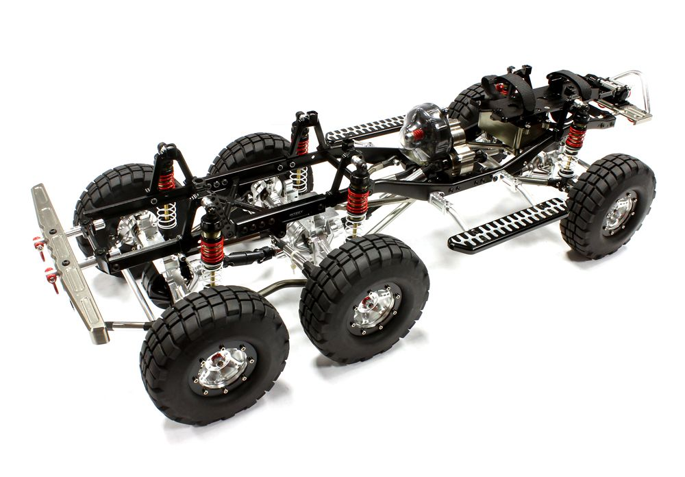 Billet Machined 1/10 Trail Roller 6X6AWS Off-Road Scale Crawler ARTR ...