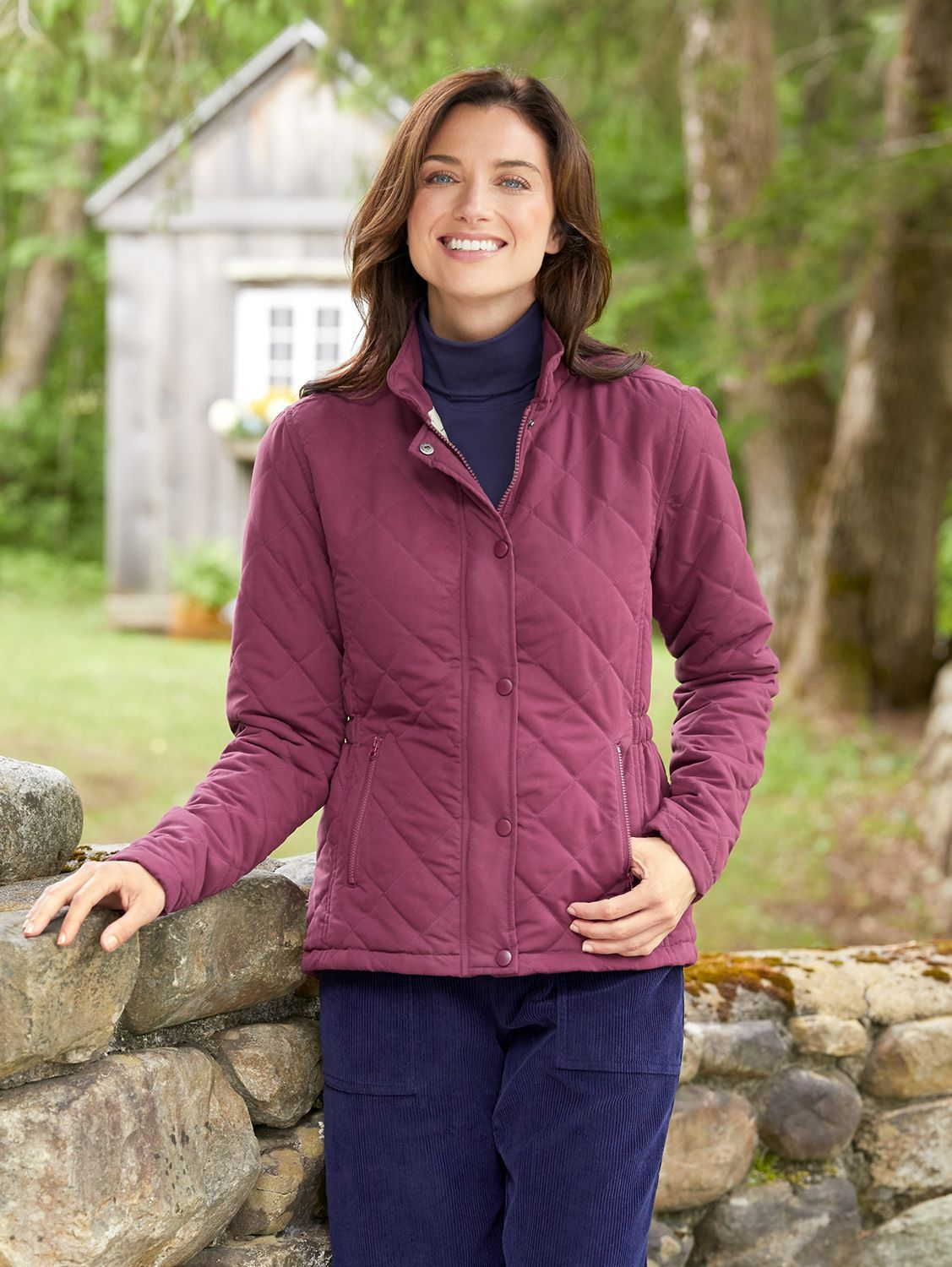 Our Quilted Outerwear Jacket Offers 3 Season Comfort And Timeless Style Jackets Quilted Outerwear Women [ 1500 x 1127 Pixel ]