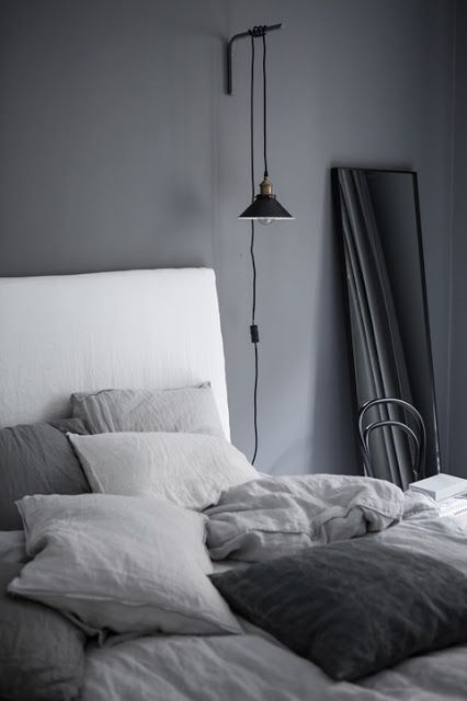 Photo of K R i S P I N T E R I O R: Dreamy Gray Bedroom