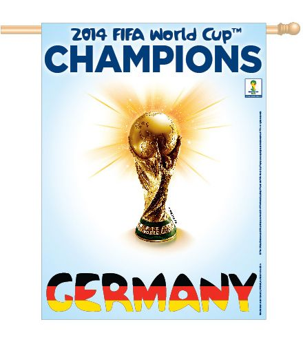 *SHIPS 8/1* Team Germany FIFA World Cup 2014 Official Championship Banner - Wincraft