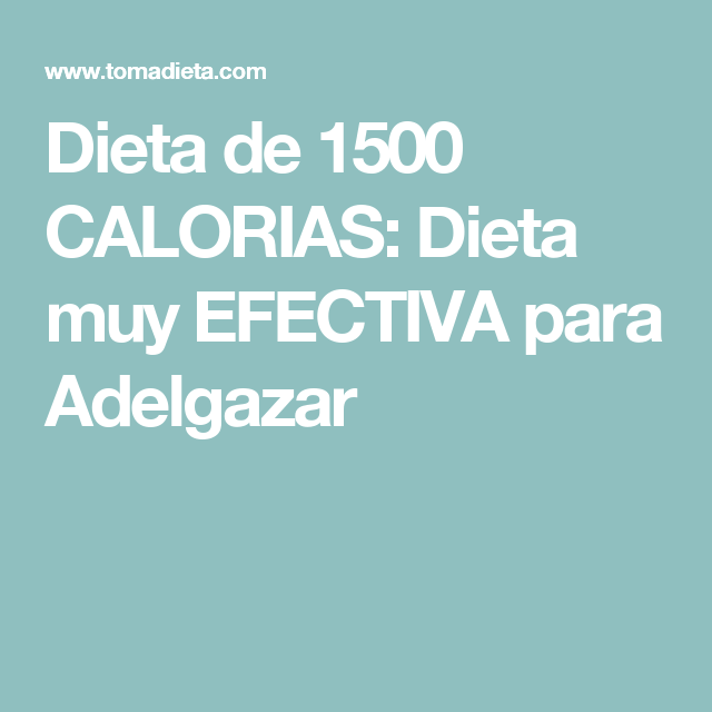 Dieta de 1500 calorias diarias pdf
