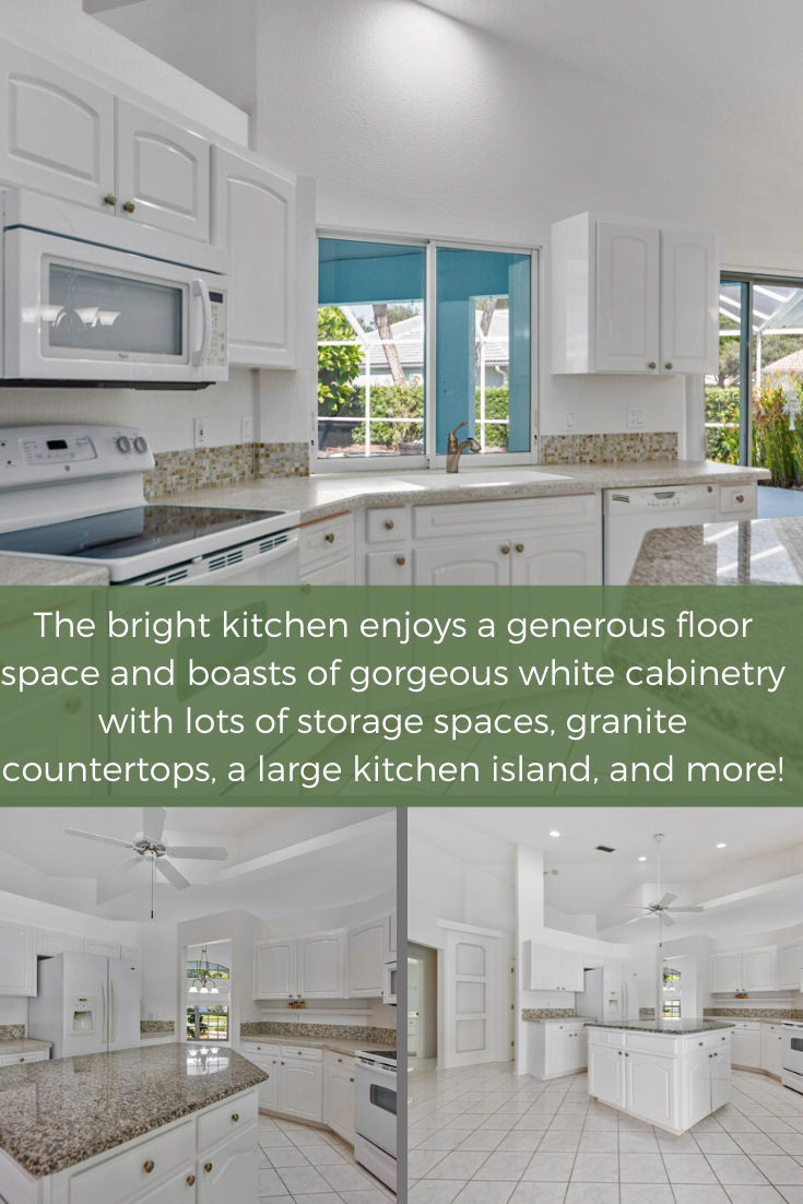 307 Roseling Cir Venice Fl 34293 Pool Home For Sale Home Bright Kitchens Granite Kitchen Island