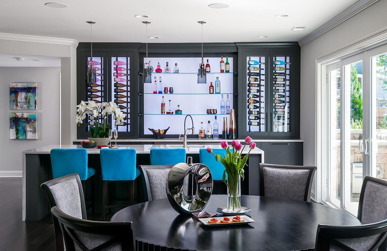 Chic, Built-In Home Bars  Bars for home, Modern home bar, Modern