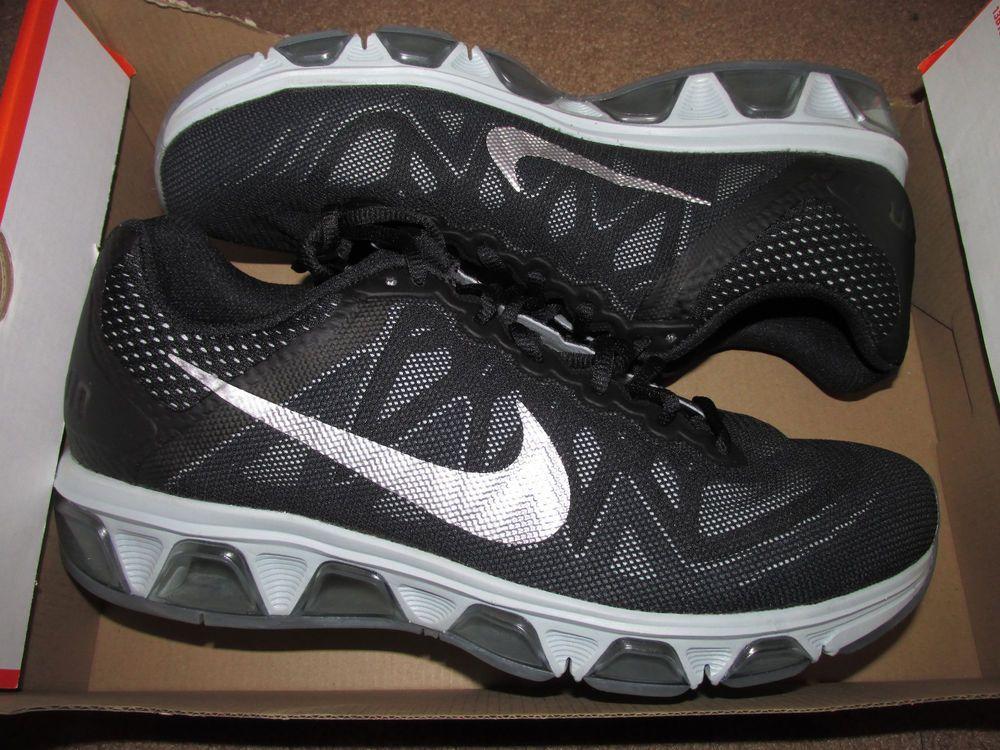 dacbcff73867 Nike Air Max Tailwind 7 Mens Running Shoes 12 Black Metallic Silver 683632  001…
