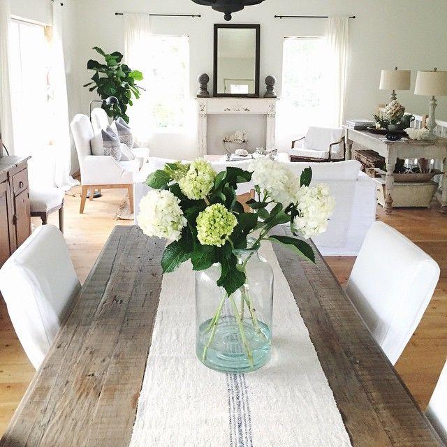 Hydrangeas Yes Please Happy Weekend Dining Table Decor