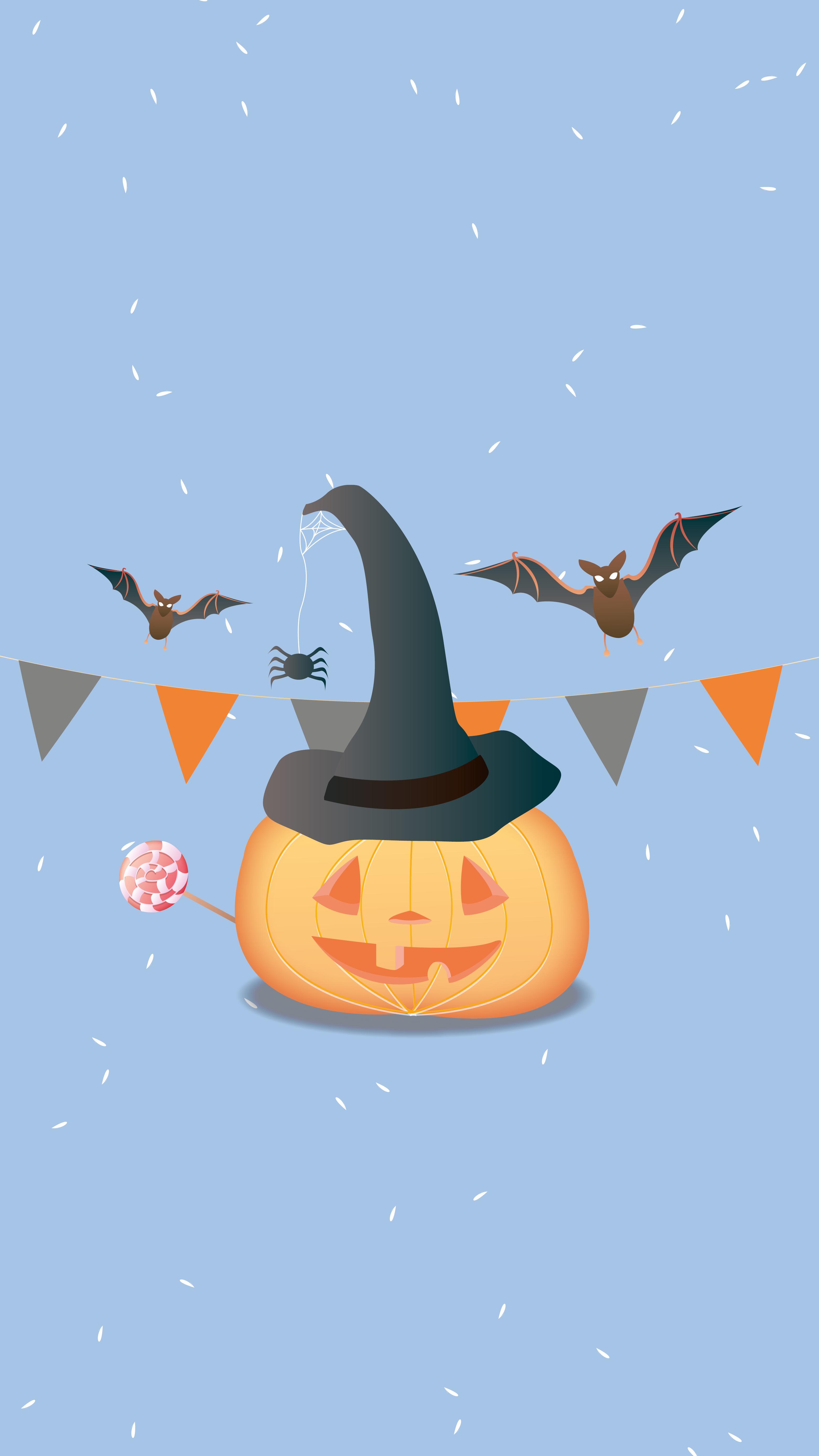 Fond d'écran Iphone Citrouille d'Halloween