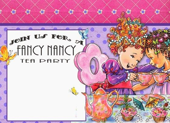 free fancy nancy birthday party invitation template entertaining