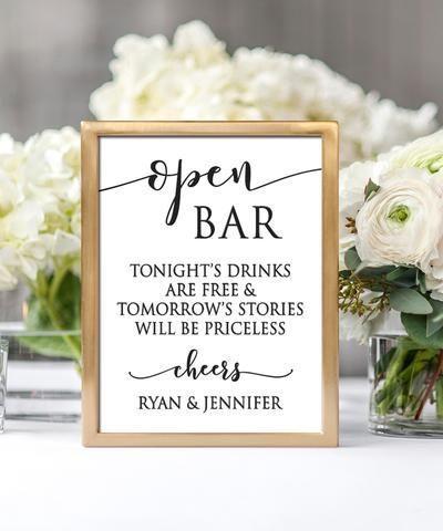 Photo of Open Bar Hochzeitsdruck, #Bar #Open #Print #Wedding #weddin …
