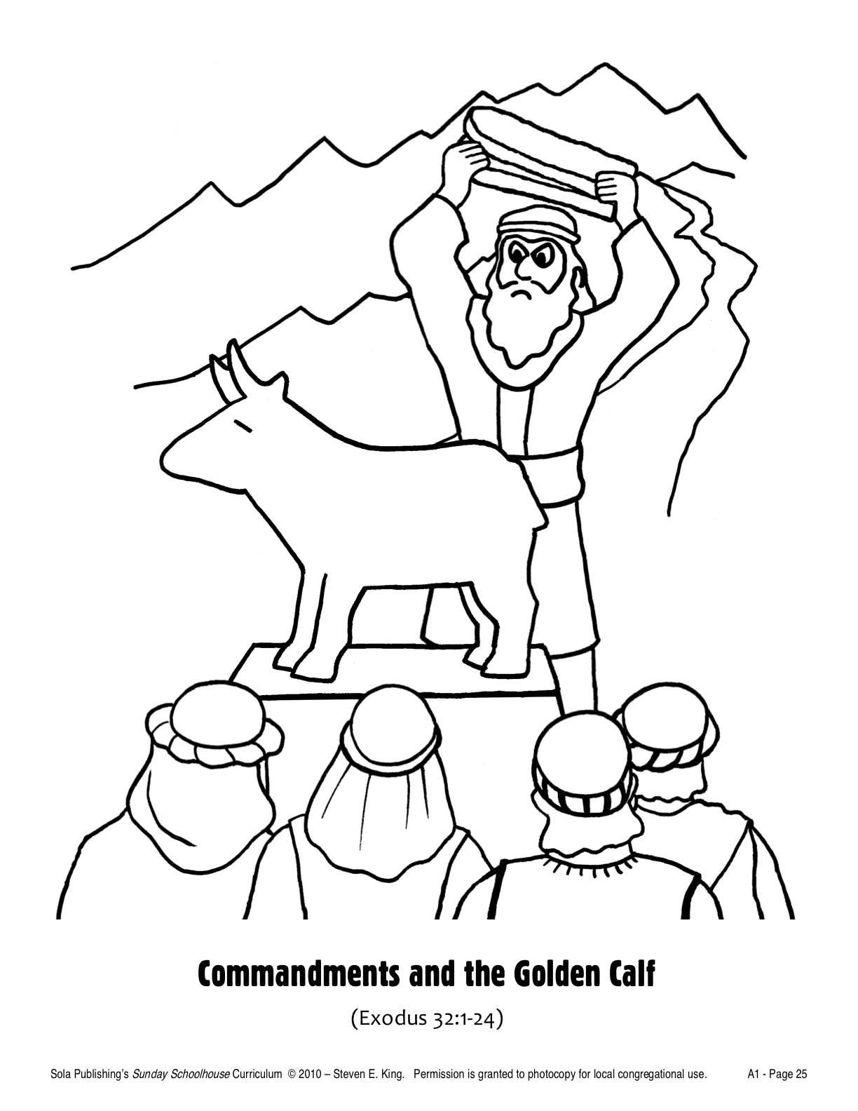 golden calf coloring pages - photo#1