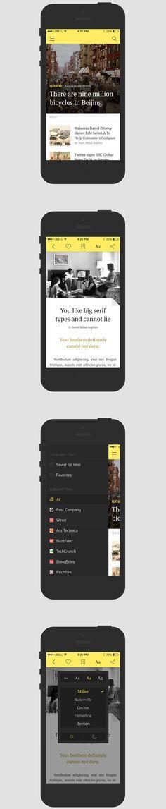 News Reader iOS7 Application Template Templates Pinterest - Application Template