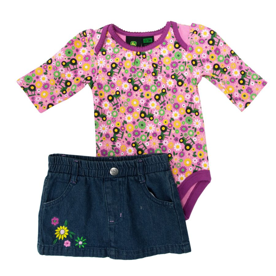 Items similar to JOHN DEERE Inspired Girls Ruffle Bloomer