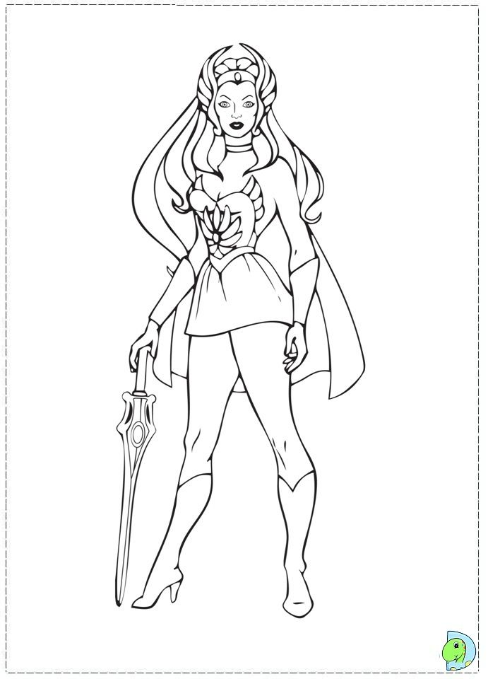 she ra coloring pages - photo#3