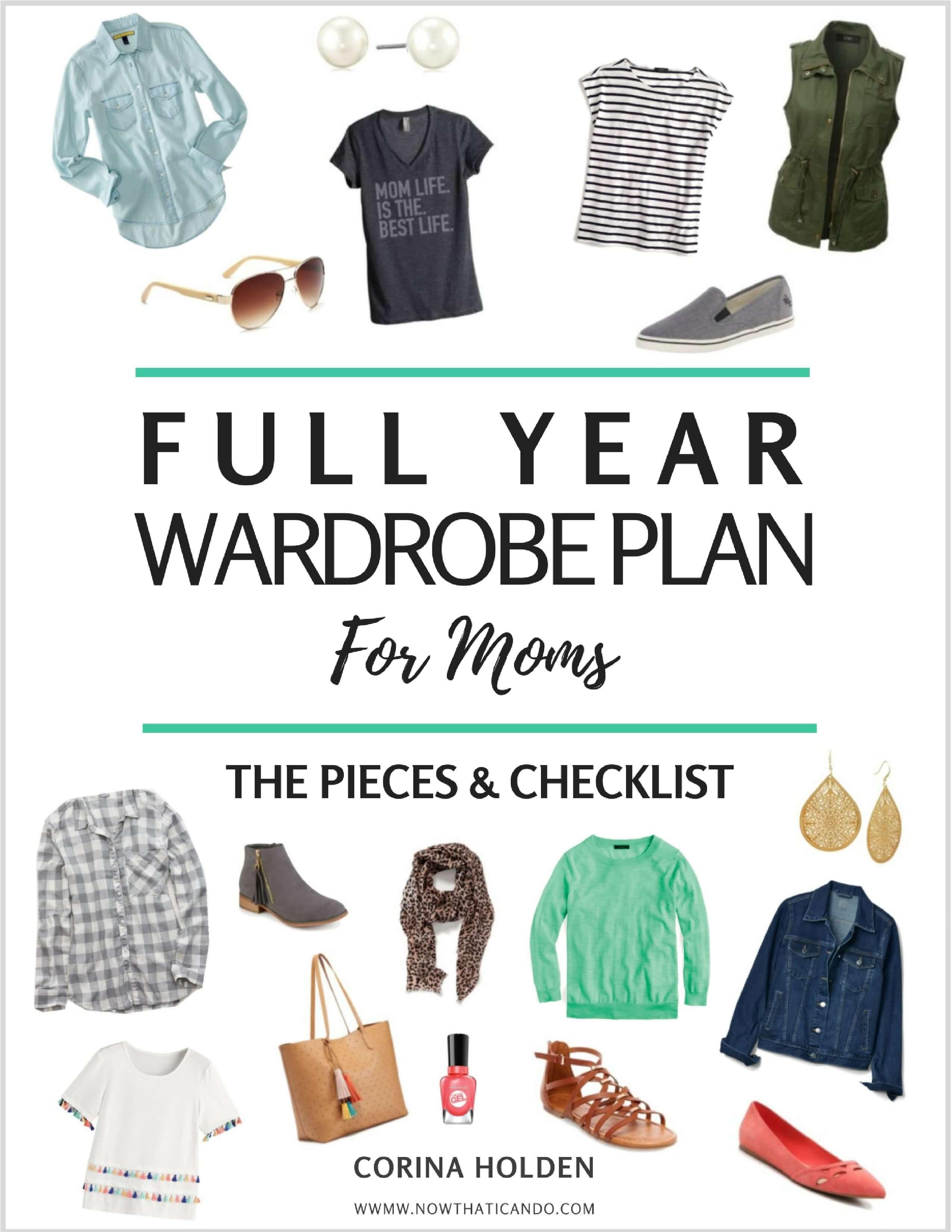 Free Capsule Wardrobe Plan For Moms Wardrobe Essentials