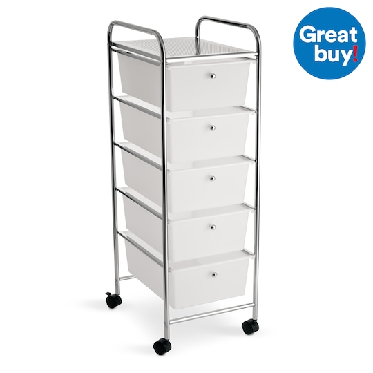 5 Drawer Rolling Cart By Recollections In 2020 Drawer Cart Rolling Cart Rolling Drawers