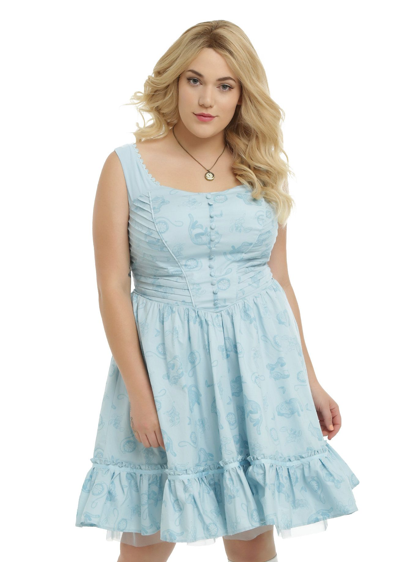 p>blue dress from the limited edition hot topic <i>alice through