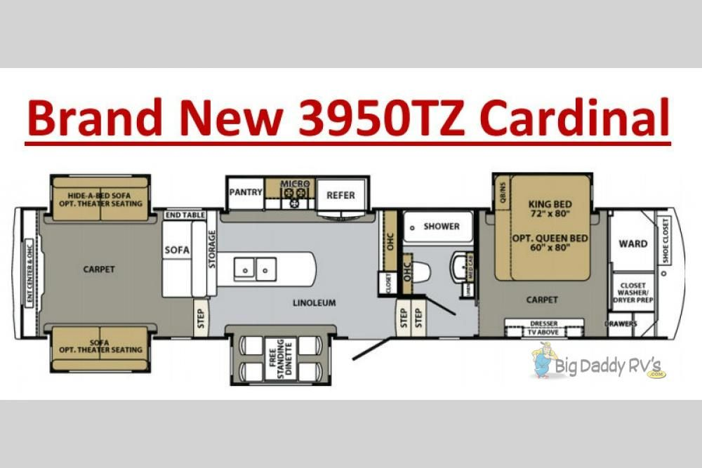 New 2018 Forest River Rv Cardinal 3950tz Fifth Wheel At Big Daddy