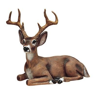 Outdoor Statue Animal Deer Buck Garden Resin Realistic Looking Eyes Patio Lawn Outdoor Statues Statuary Garden Animal Statues