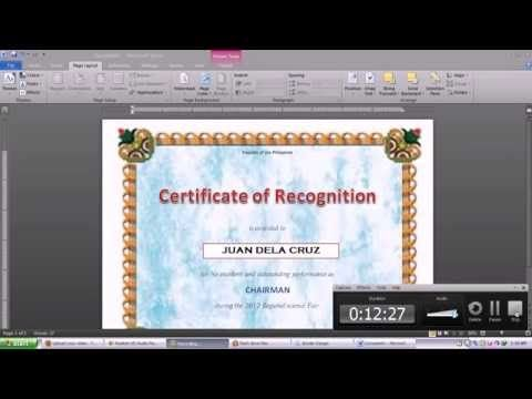 YouTube Tech Tips Pinterest Microsoft word 2010, Create - how to create a gift certificate in word