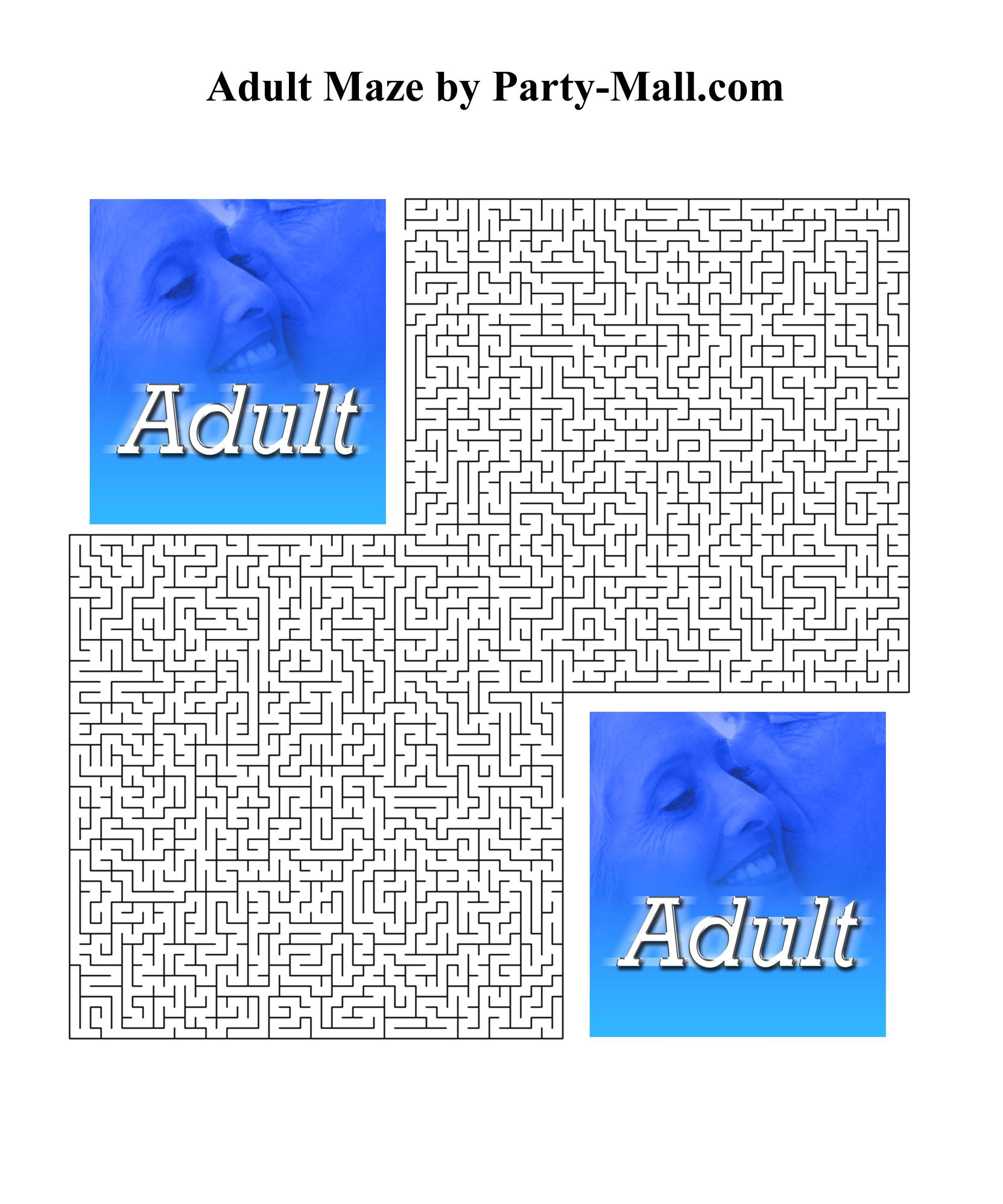 Printable Maze Puzzles For Adults