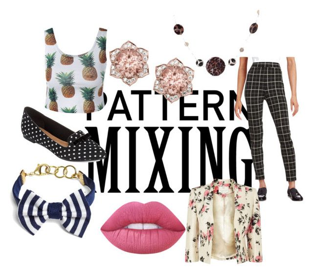 """""""Crazy Pattern Mixing"""" by itsjazzmen ❤ liked on Polyvore featuring Isaac Mizrahi, Restricted, Jacques Vert, Brooks Brothers, Miadora and Lime Crime"""