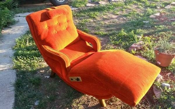 Funky Orange Massage Chair Stoelen
