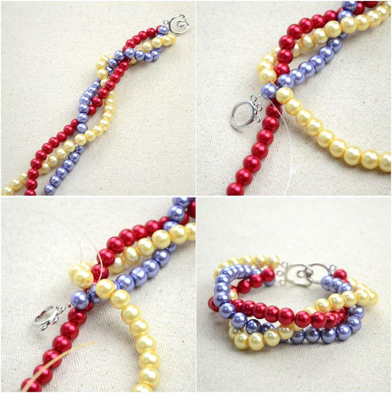 Handmade Beaded Jewelry Designs Simple Pearl Bracelet And Ring Set ...