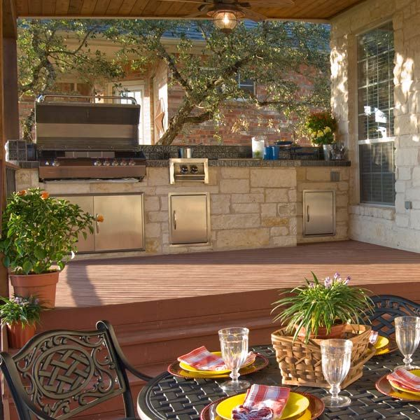 Bon Outdoor Kitchen Design Ideas U2013 With A Multi Level Deck
