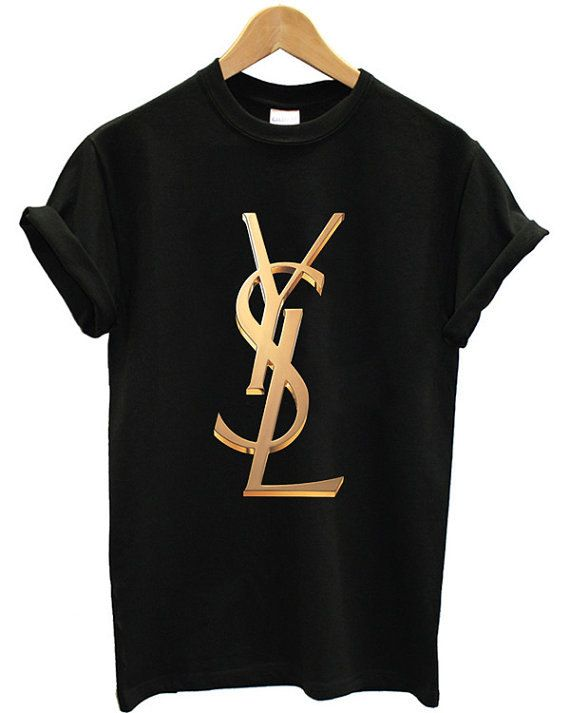 272f94586039 YSL TShirts Black with Gold lettering by LaKASUALMode on Etsy ...