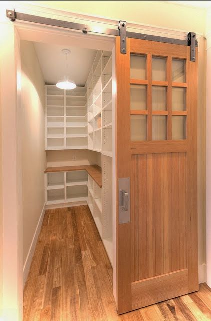 Sliding door to a walk in closet, this is gorgeous!