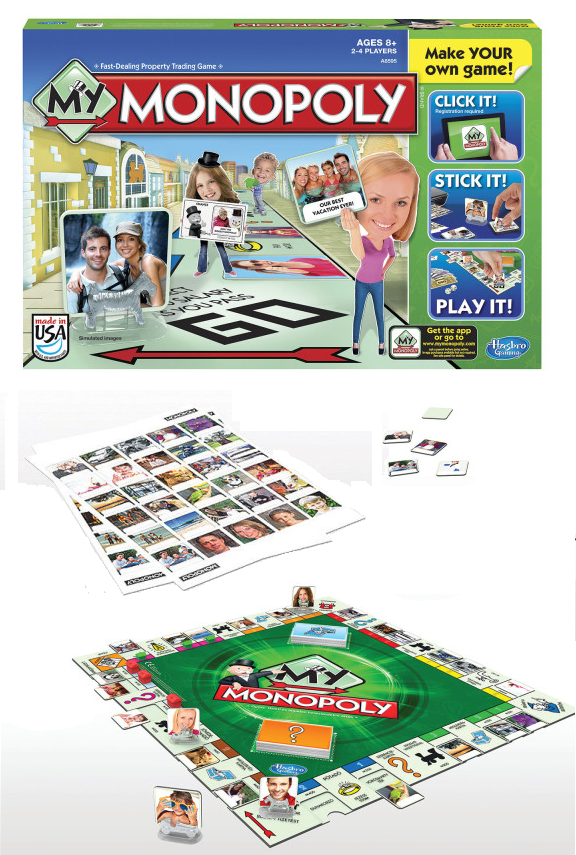 Personalize your own Monopoly game! Print your own photos