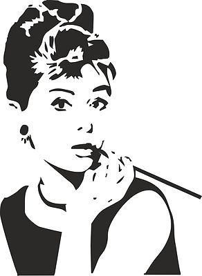 Audrey Hepburn Breakfast at Tiffanys Large Wall Art Vinyl Sticker Decal | eBay. a possible nursery wall decal?