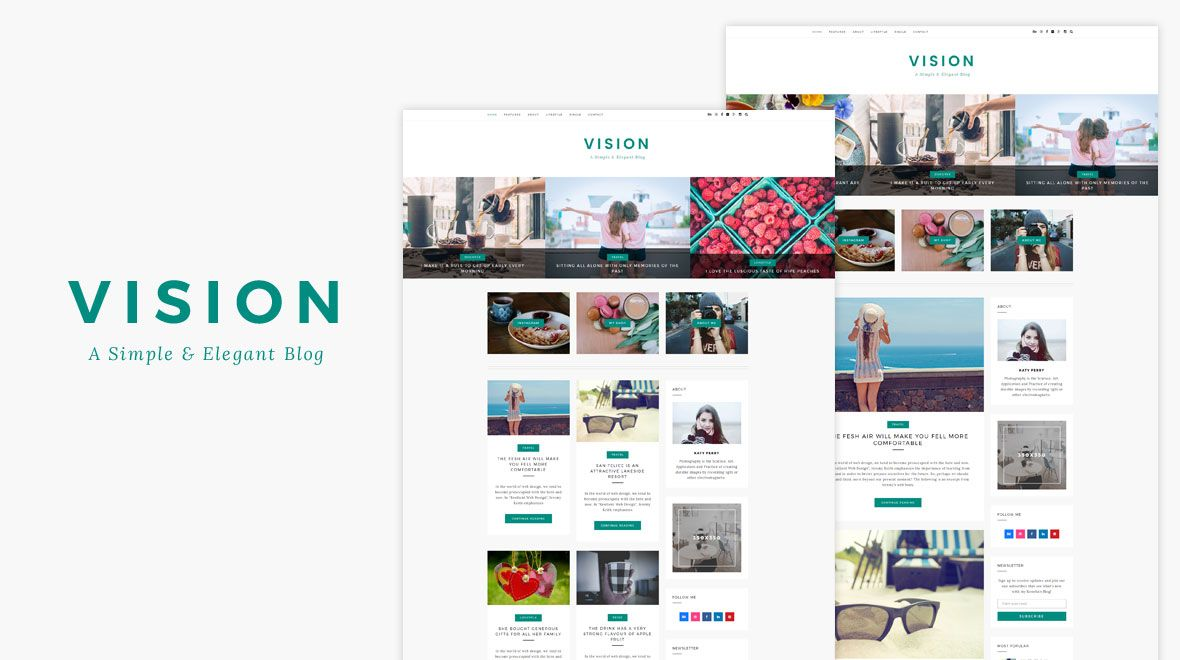 vision wordpress blog themes wordpress and themes themes