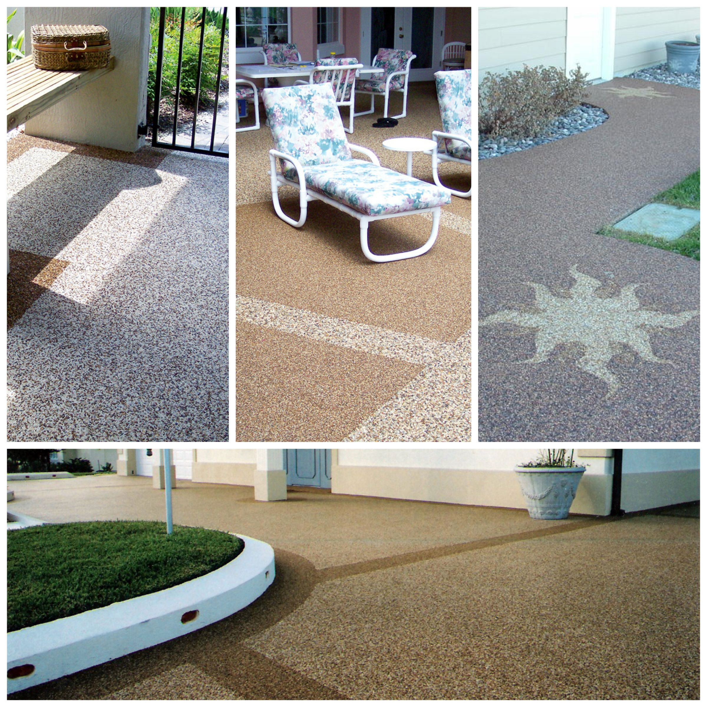Epoxy Flooring For Patio: River Rock Or Epoxy Stone Is Used In Residential