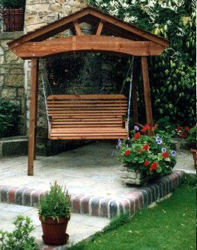Roofed Arched Pergola Swing Pergola Swing Outdoor