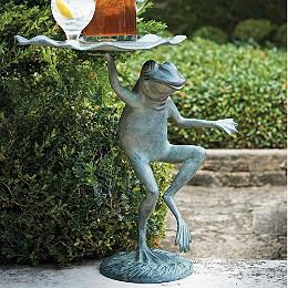 Belvedere Alligator Table Frontgate Garden Frogs Frog Statues