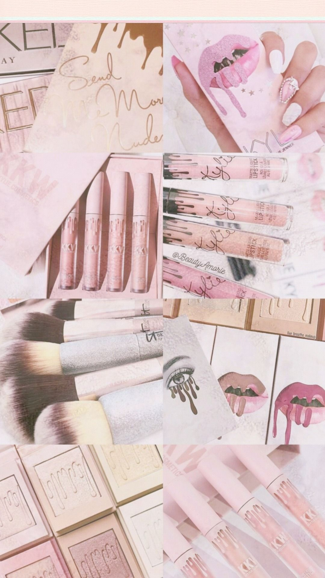 Aesthetic Makeup Wallpaper : aesthetic, makeup, wallpaper, ❄WALLPAPERS❄, Walls, Backgrounds, Girly,, Makeup, Collage,, Wallpapers