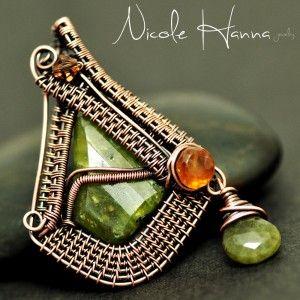Nicole hanna wire wrapped pendant artsy jewelry wire works nicole hanna wire wrapped pendant aloadofball Gallery