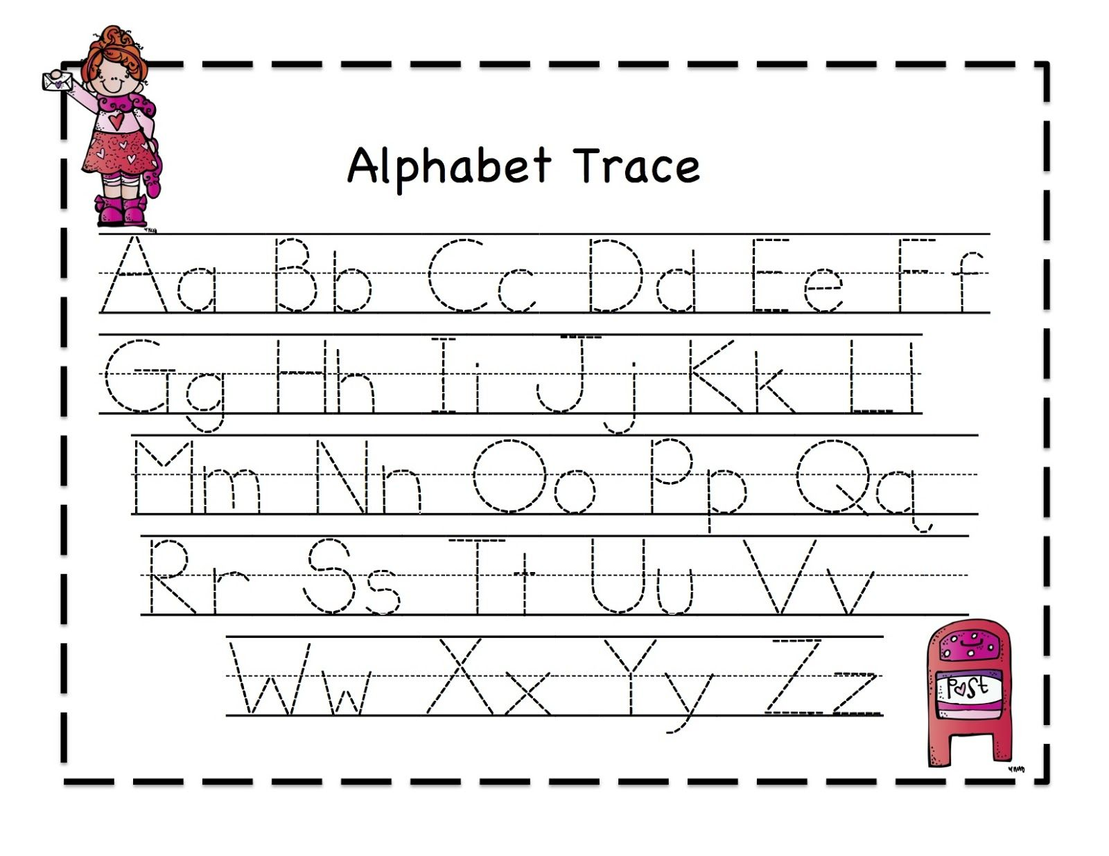 Alphabet Trace Worksheet - Khayav