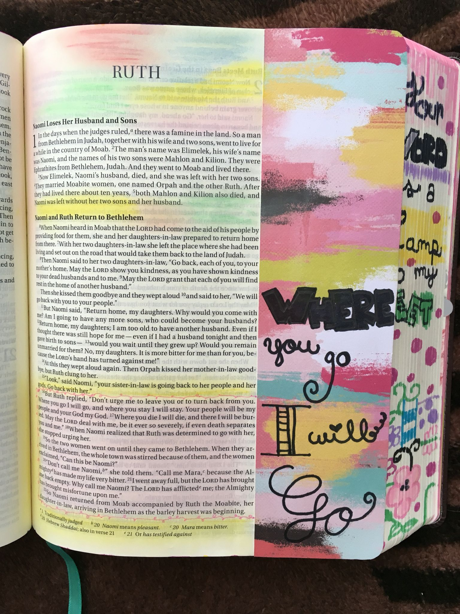 Ruth 💕 Bible Journaling