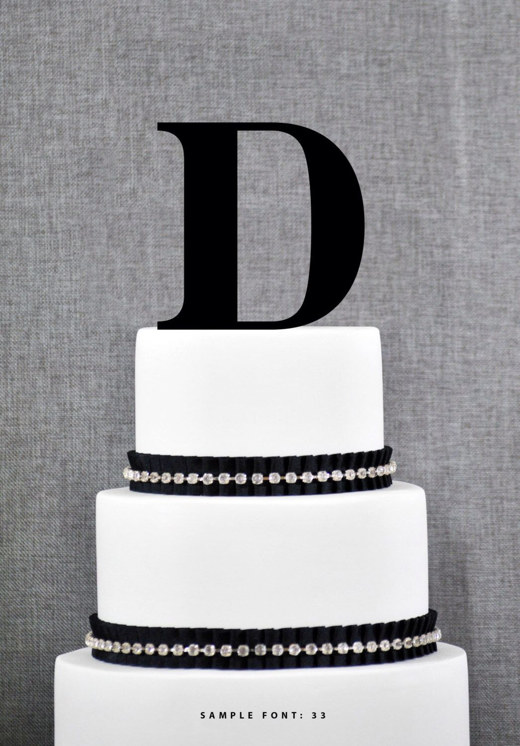 Letter D - Initial Cake Topper, Monogram Wedding Cake Topper, Custom Cake Topper by ChicagoFactoryDesign on Etsy https://www.etsy.com/listing/189636430/letter-d-initial-cake-topper-monogram